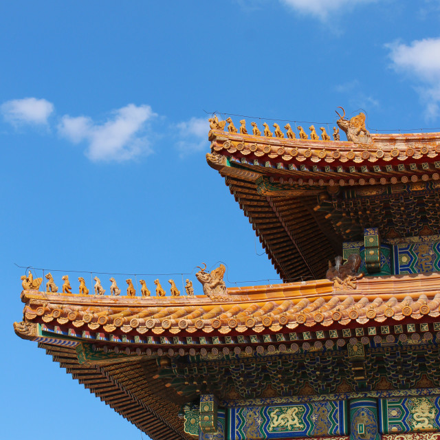 """Roof in the Forbidden City"" stock image"
