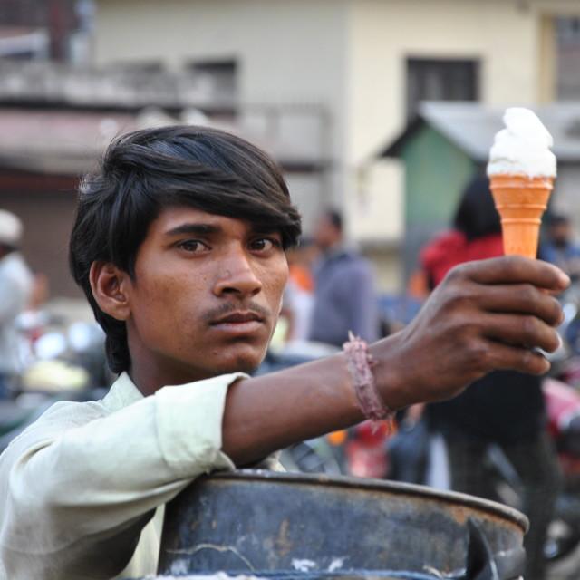 """Ice cream Kathmandu"" stock image"