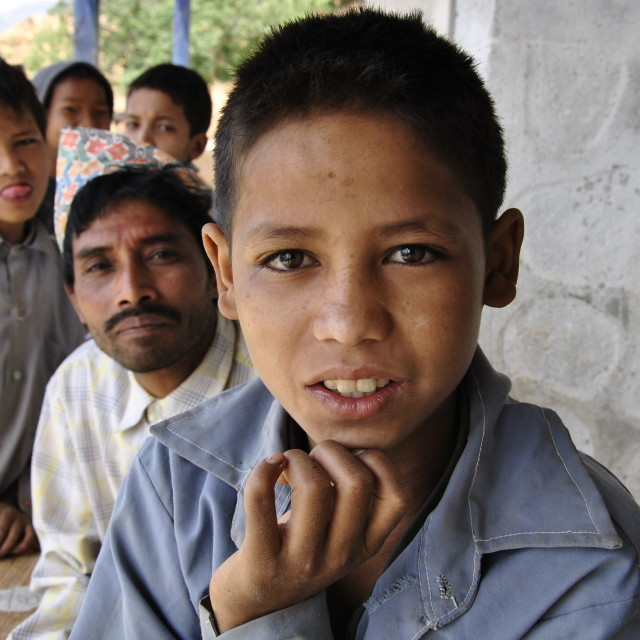 """Nepalese Classmates"" stock image"