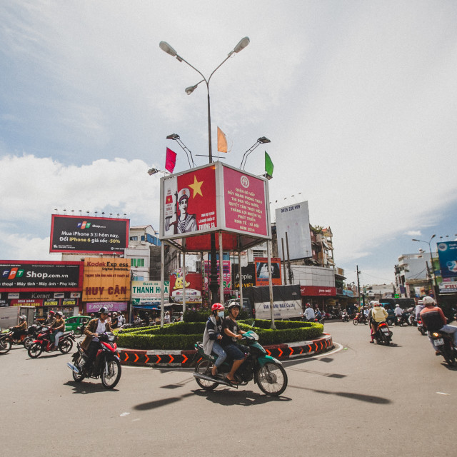 """Ho Chi Minh roundabout"" stock image"