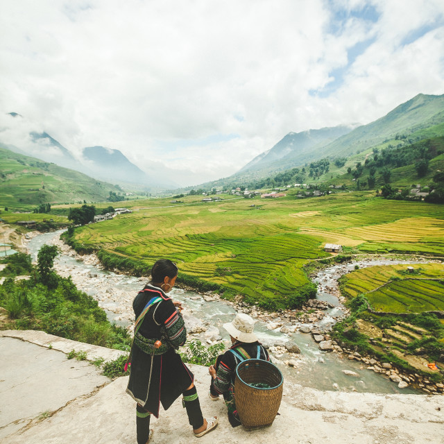 """Sapa view"" stock image"