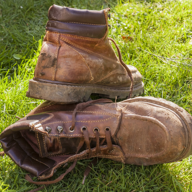 """My old boots"" stock image"