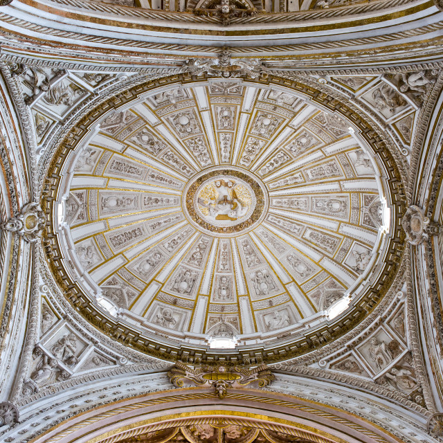 """Mezquita Cathedral Dome Ceiling"" stock image"