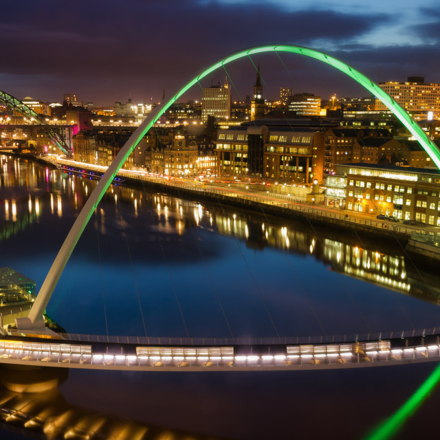 """""""View Up The Tyne"""" stock image"""