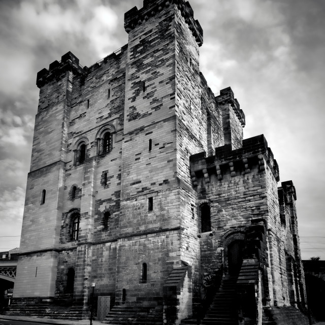 """Castle Keep at Newcastle"" stock image"