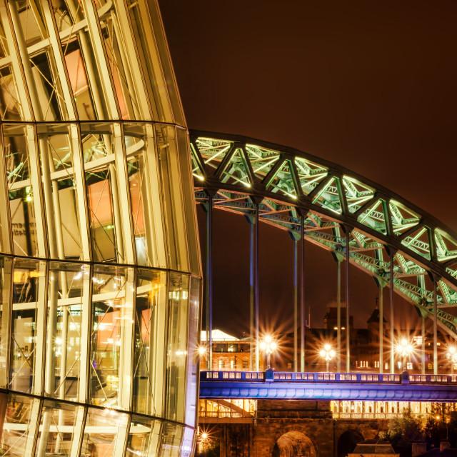 """The Sage and the Tyne Bridge"" stock image"