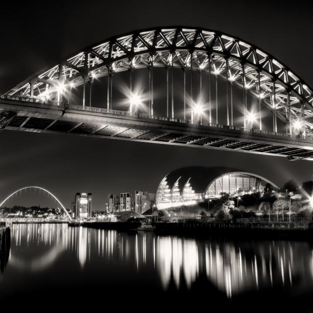 """Tyne Bridge at Night"" stock image"