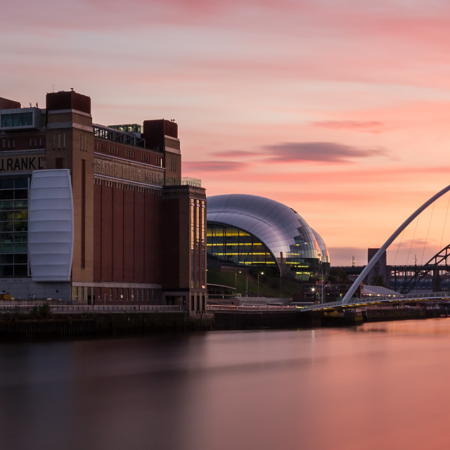 """Newcastle at Sunset"" stock image"