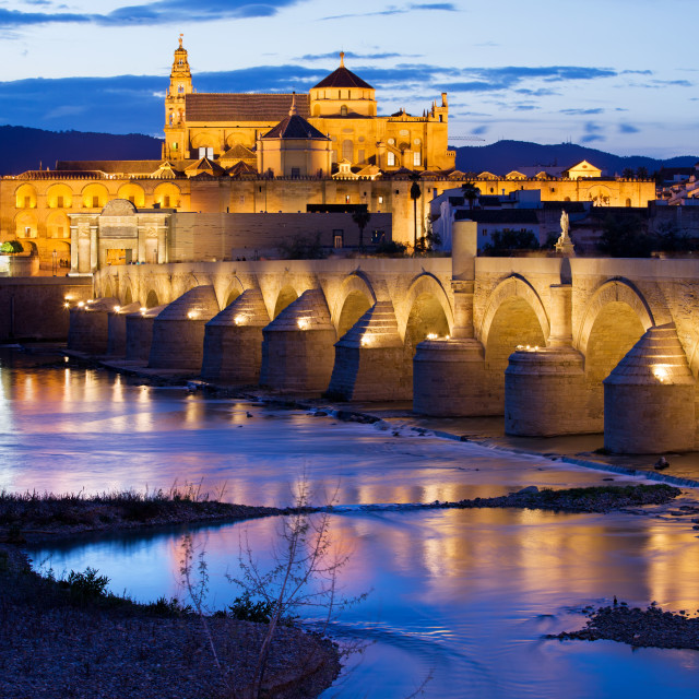 """Mezquita and Roman Bridge in Cordoba"" stock image"