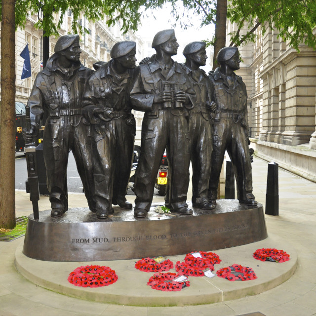"""Royal Tank Regiment Memorial"" stock image"