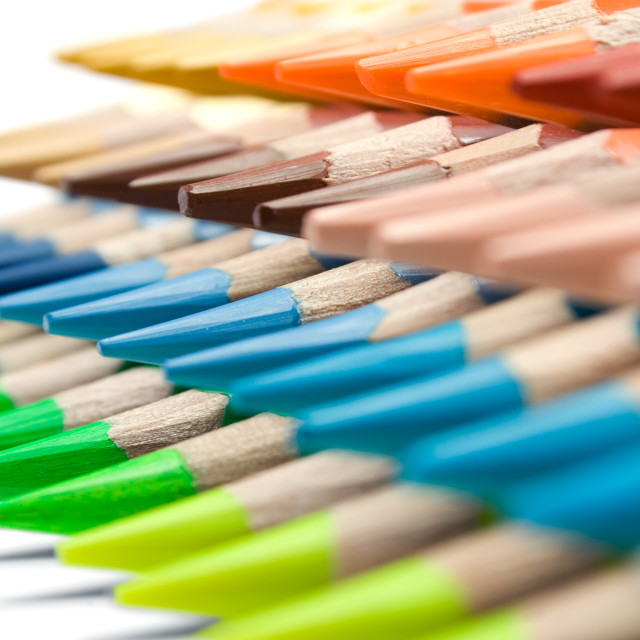 """Various Colored Crayons"" stock image"