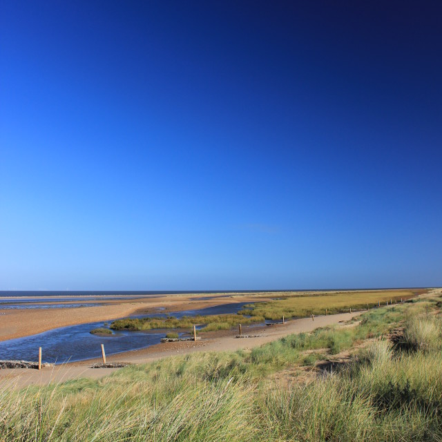 """Norfolk Coast"" stock image"