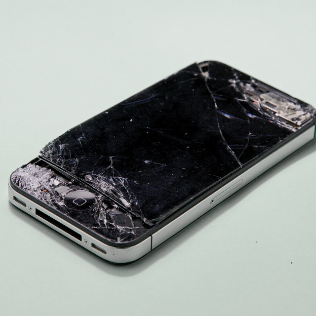 """broken Apple iPhone"" stock image"
