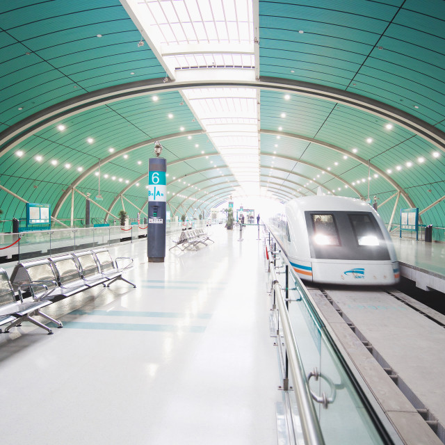 """Shanghai Maglev Train"" stock image"