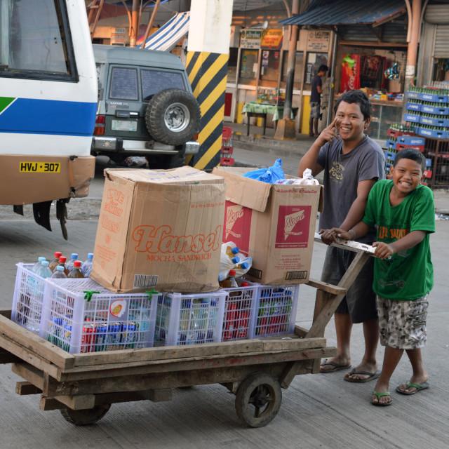 """""""Tacloban street traders"""" stock image"""