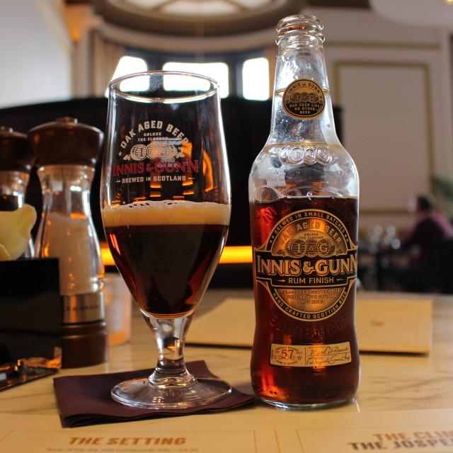 """""""Innis & Gunn - Perfection Bottled"""" stock image"""