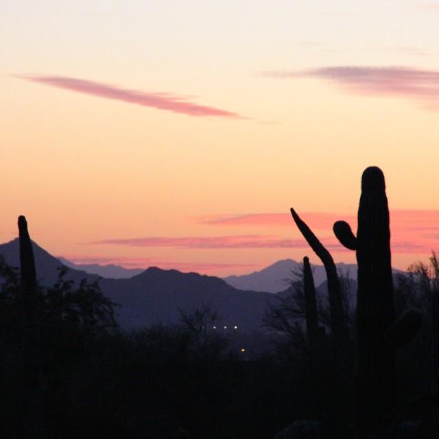 """""""Arizona sunset"""" stock image"""
