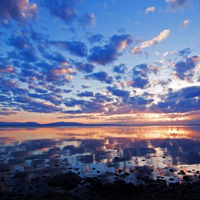 """Sunset Storsjön Sverige"" stock image"