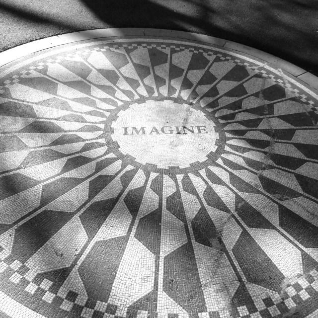 """""""Lennon Memorial"""" stock image"""