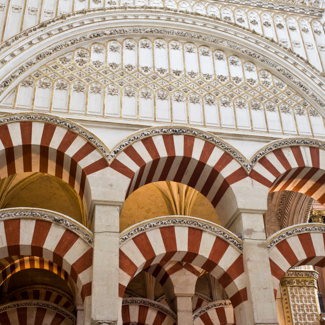 """Mezquita Cathedral Architectural Details"" stock image"