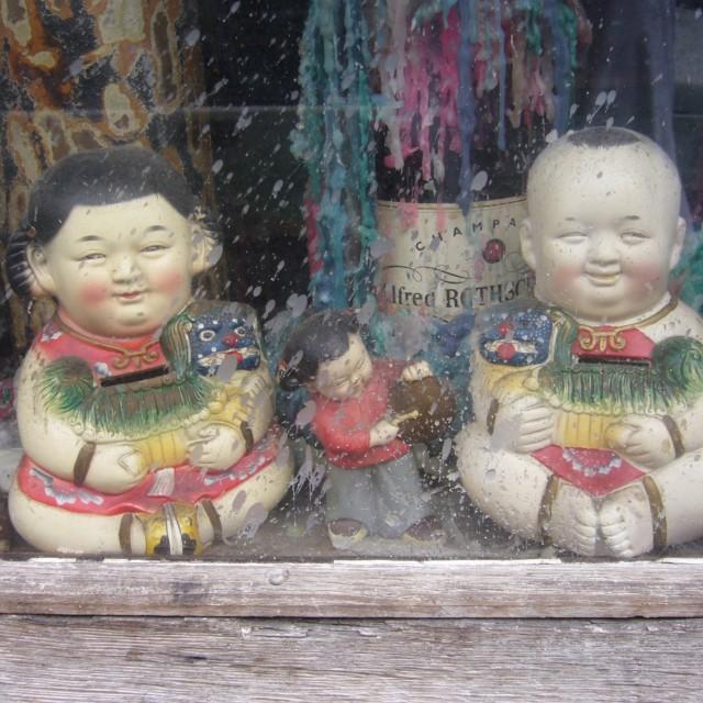 """Oriental china dolls"" stock image"