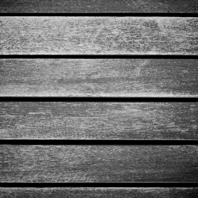 """Black and White Wooden Panels Worn Texture"" stock image"
