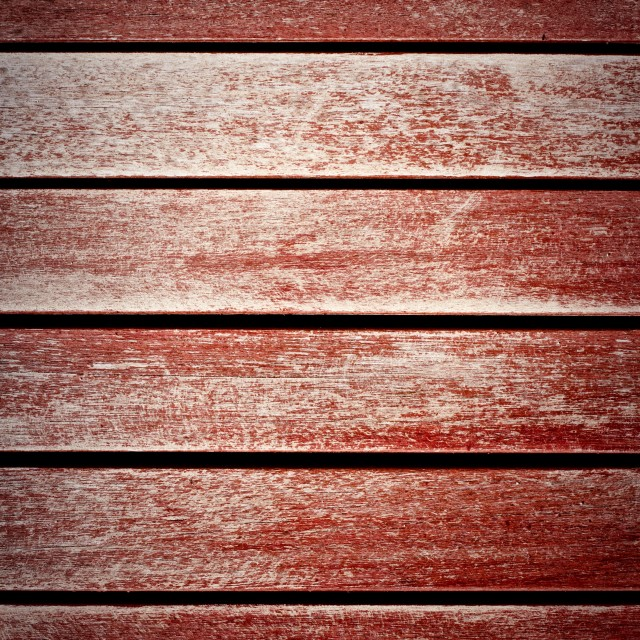 """Worn Red Wooden Panels Horizontal Texture Background"" stock image"