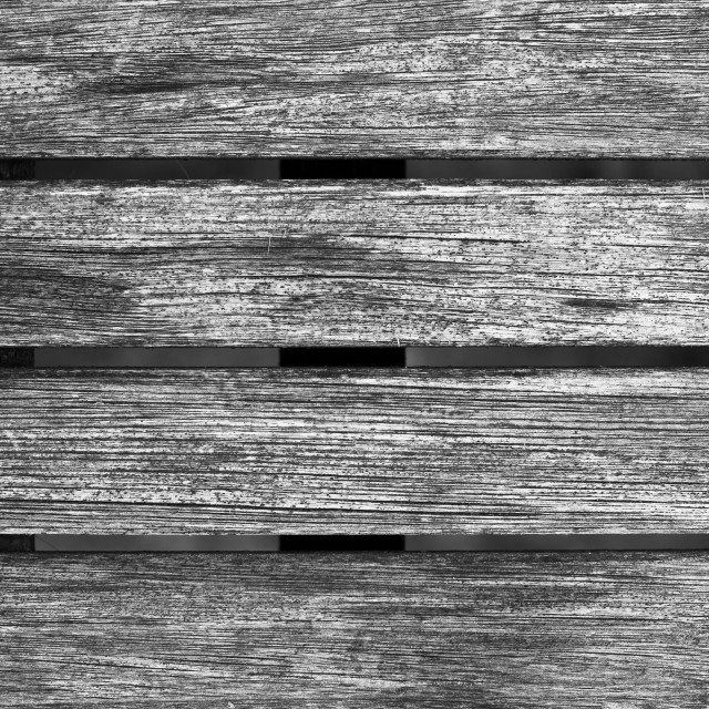 """Black and White Worn Wooden Table Panels Texture"" stock image"