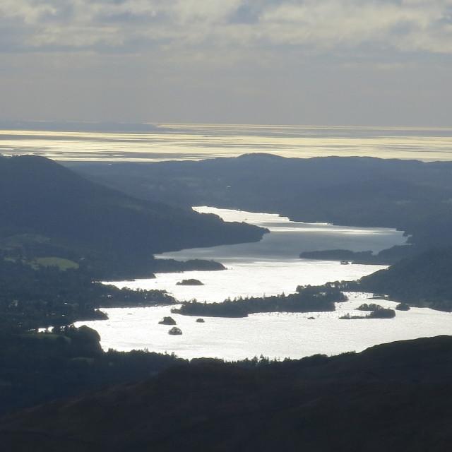 """Silver lake, golden sea"" stock image"