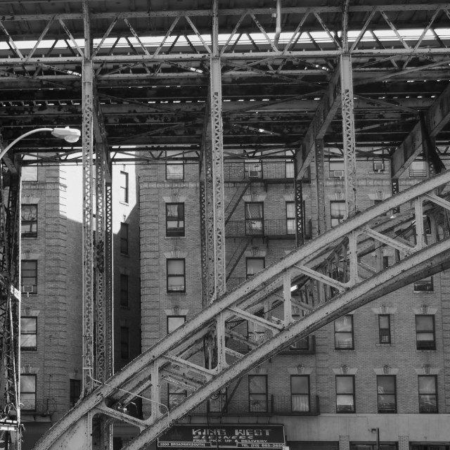 """Elevated Station, Harlem"" stock image"