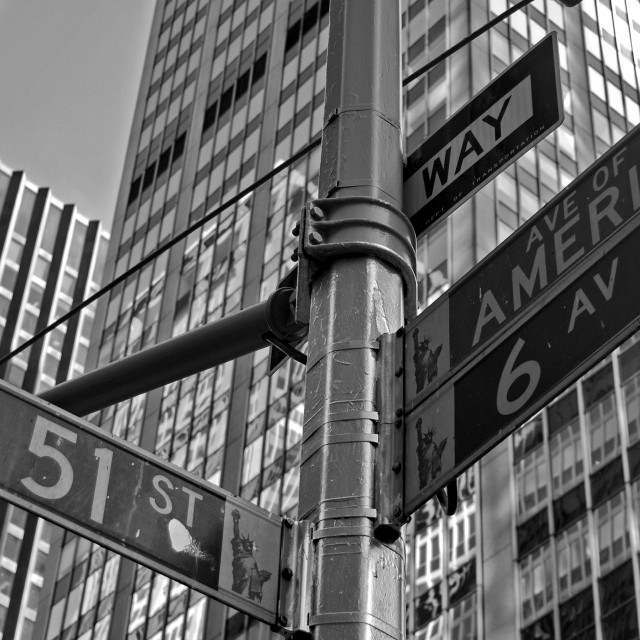 """W51st & 6th"" stock image"