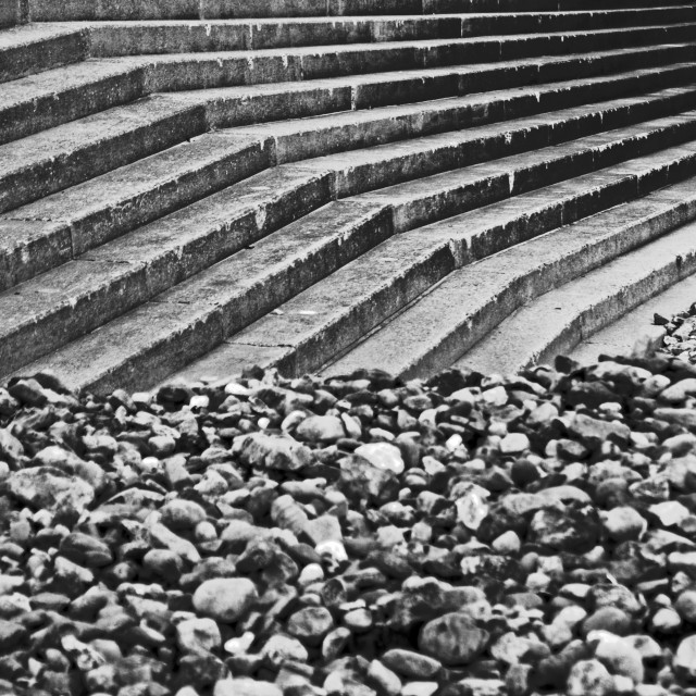 """Pebbles & Steps"" stock image"