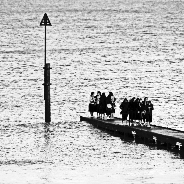 """Landing Stage Ladies"" stock image"