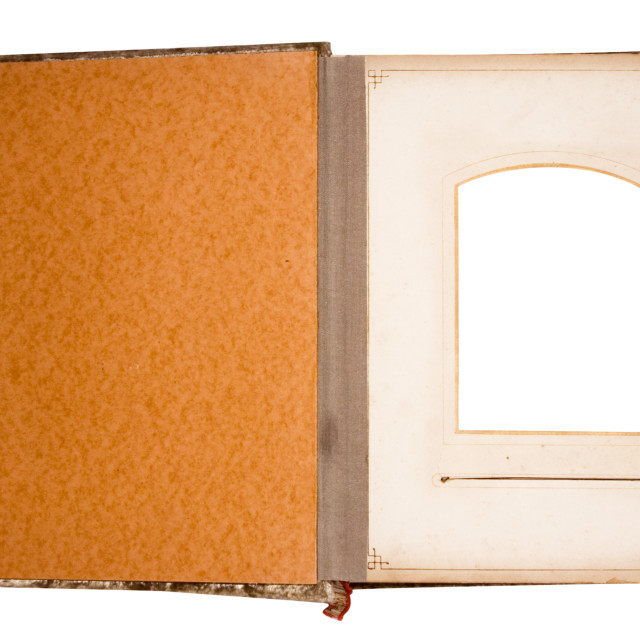 """Old Photo Album for One Photo with Clipping Path"" stock image"
