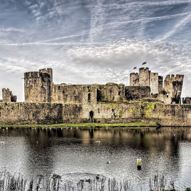 """Caerphilly Castle 3"" stock image"