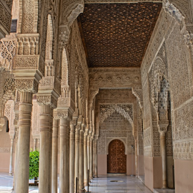 """Alhambra - Courtyard of the Lions"" stock image"
