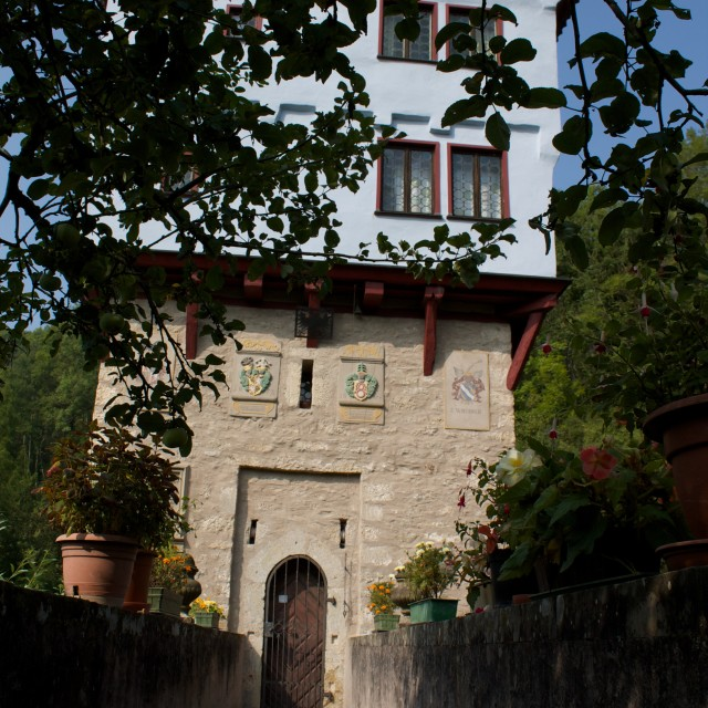 """Topplerschlösschen - Little Castle"" stock image"