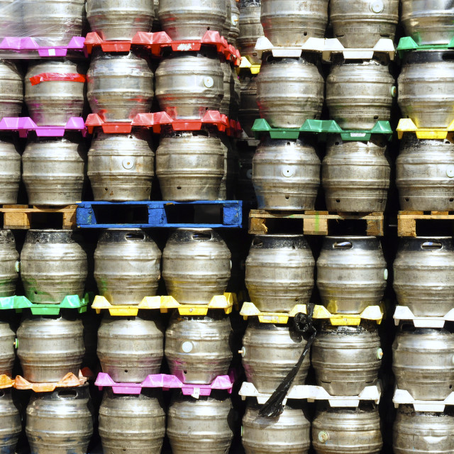 """Beer Kegs"" stock image"