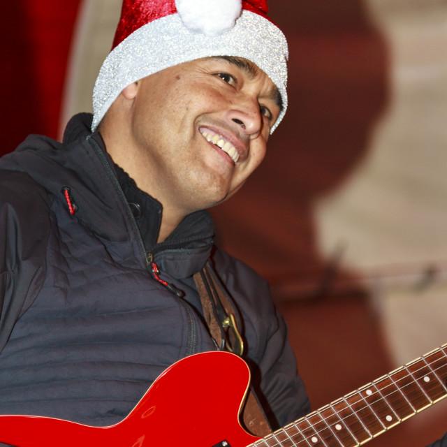 """""""Christmas guitar"""" stock image"""