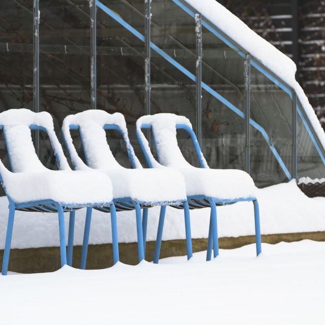 """""""Snow chairs"""" stock image"""