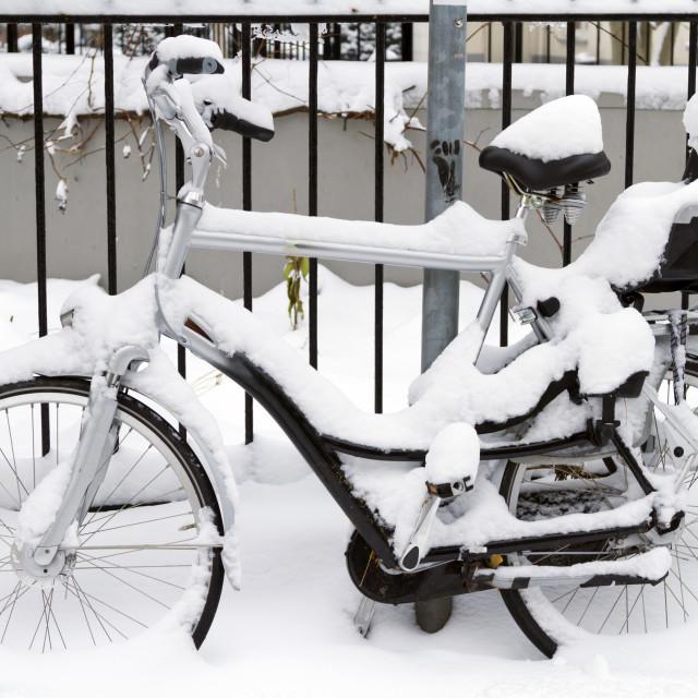"""Snow Bike"" stock image"