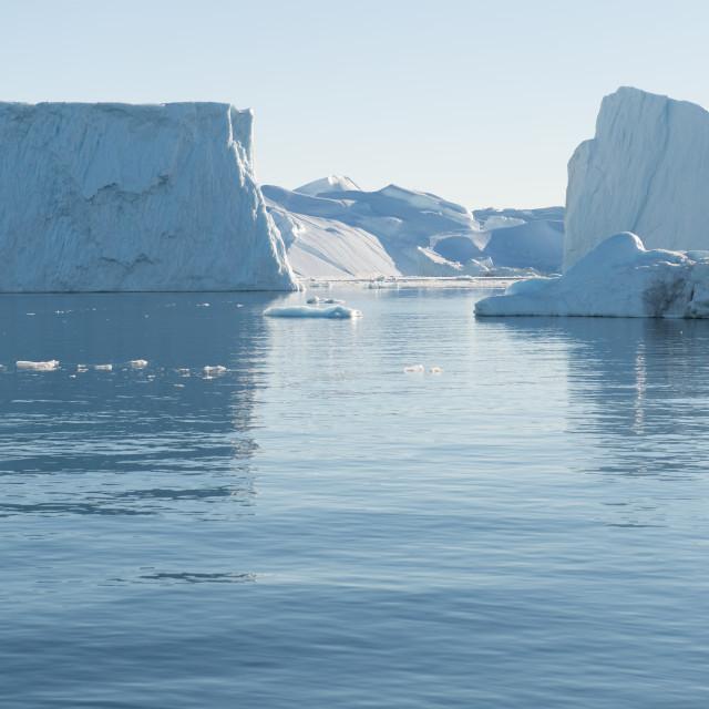 """""""Beautiful Icebergs in Greenland"""" stock image"""
