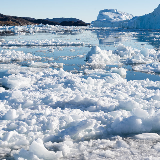 """Beautiful Landscape in Greenland with Icebergs"" stock image"