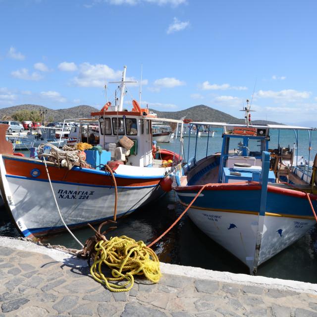 """Elounda, Crete"" stock image"