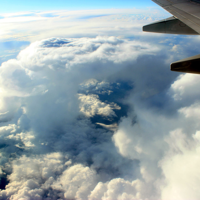 """Hole In The Clouds"" stock image"