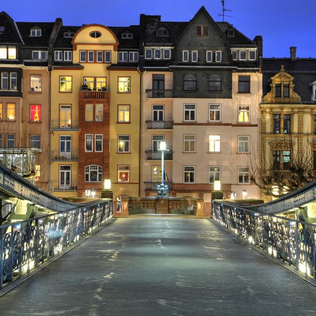 """Bridge in Frankfurt"" stock image"