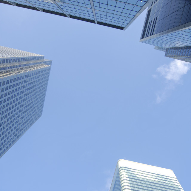 """""""Canary Wharf Skyscrapers"""" stock image"""