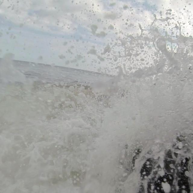 """""""Waves Crashing On Rocks 2"""" stock image"""