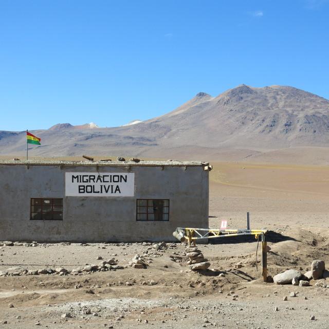 """Border Checkpoint Bolivia"" stock image"