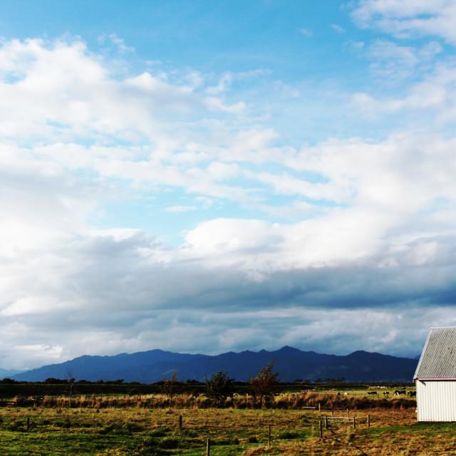 """The White Barn"" stock image"